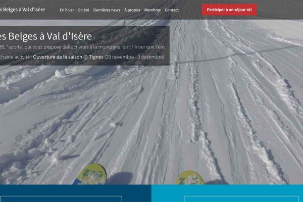 Les Belges à Val d'Isère