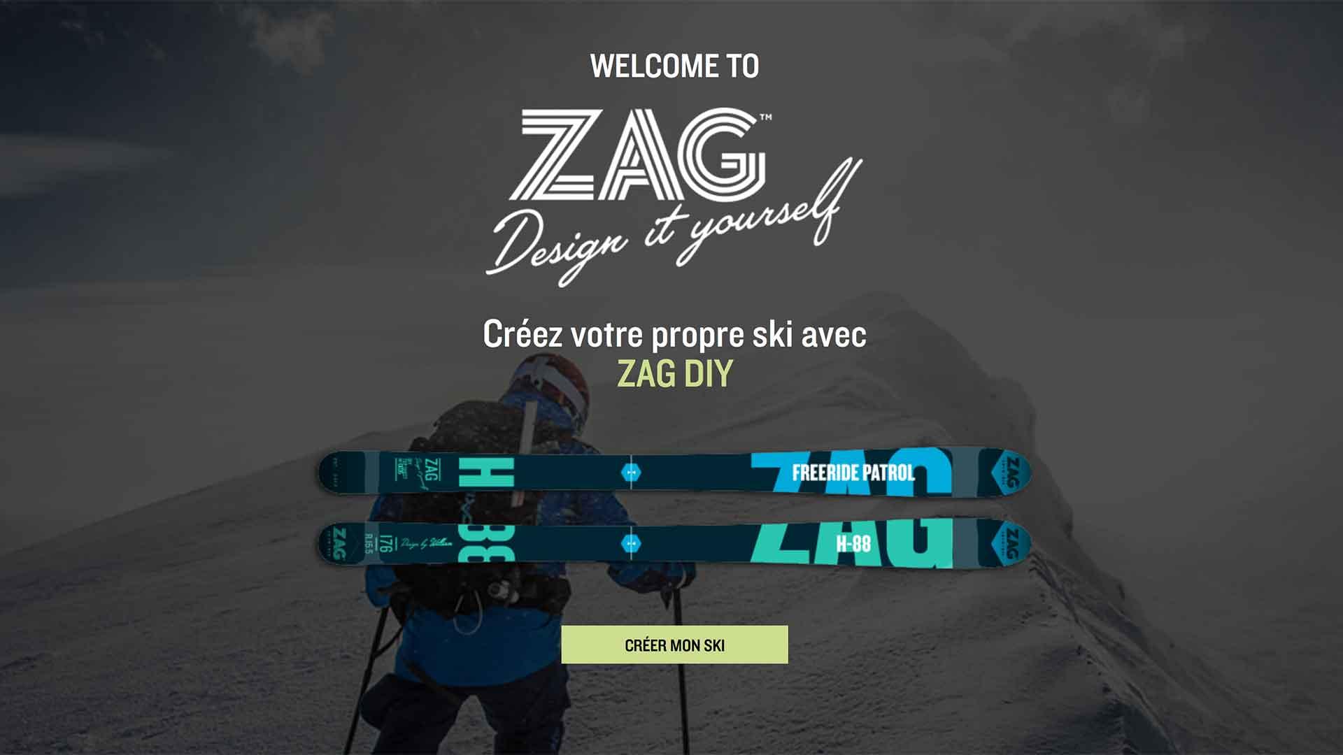 Personnaliser une paire de skis ZAG