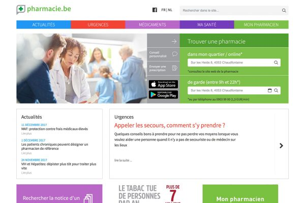 [ WORK ] La nouvelle version de Pharmacie.be est en ligne !